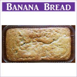 Gluten Free Banana Bread Loaf